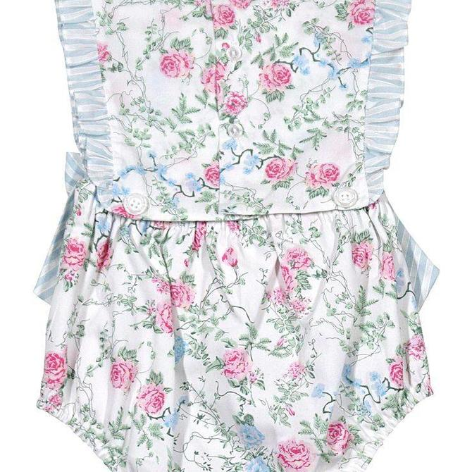 Sophie & Lucas Floral & Stripe Overall