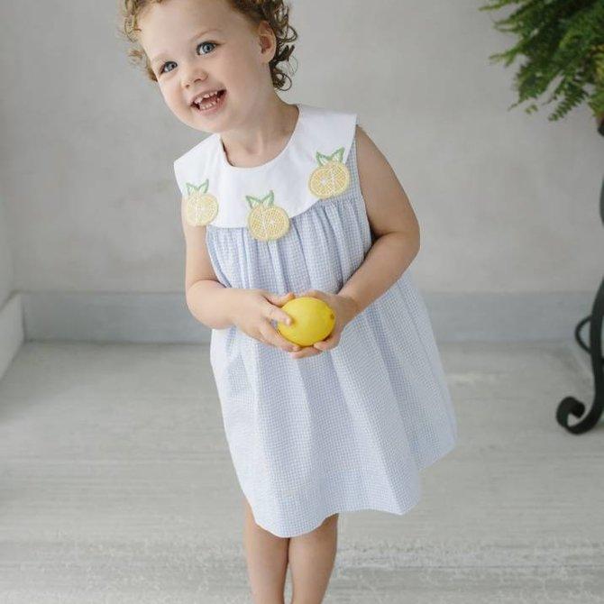 Little English Lemon Bib Dress