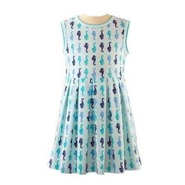 Rachel Riley Seahorse Sleeveless Jersey Dress
