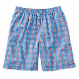 Peter Millar Reptile Blue Swim Trunks