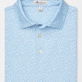 Peter Millar Youth Capital Print Clubs Stretch Jersey Sean