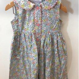 Rachel Riley Floral Sleeveless Button Front Dress