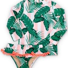 Shade Critters Rashguard set botanical pink
