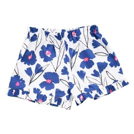 Busy Bees Lee Lee Ruffle Shorts Blue Floral