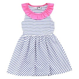 Busy Bees Jessica Blue Stripe Knit Dress