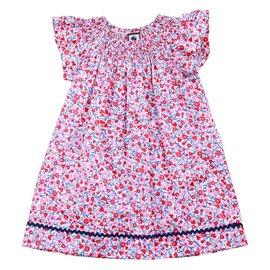 Busy Bees Jules Flutter Sleeve Dress Multifloral