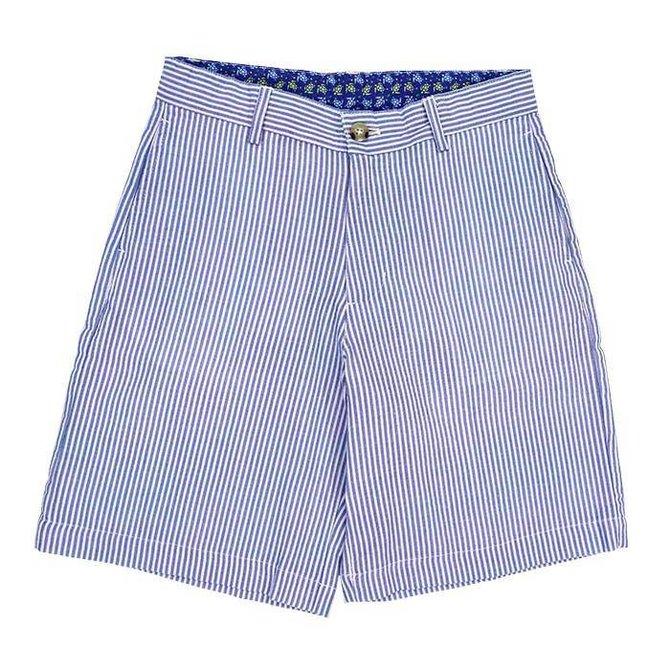 The Bailey Boys J Bailey Blue Stripe Seersucker Short