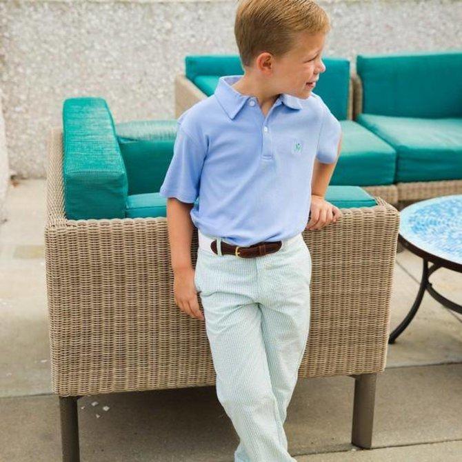 The Bailey Boys J Bailey Short Sleeve Polo Light Blue