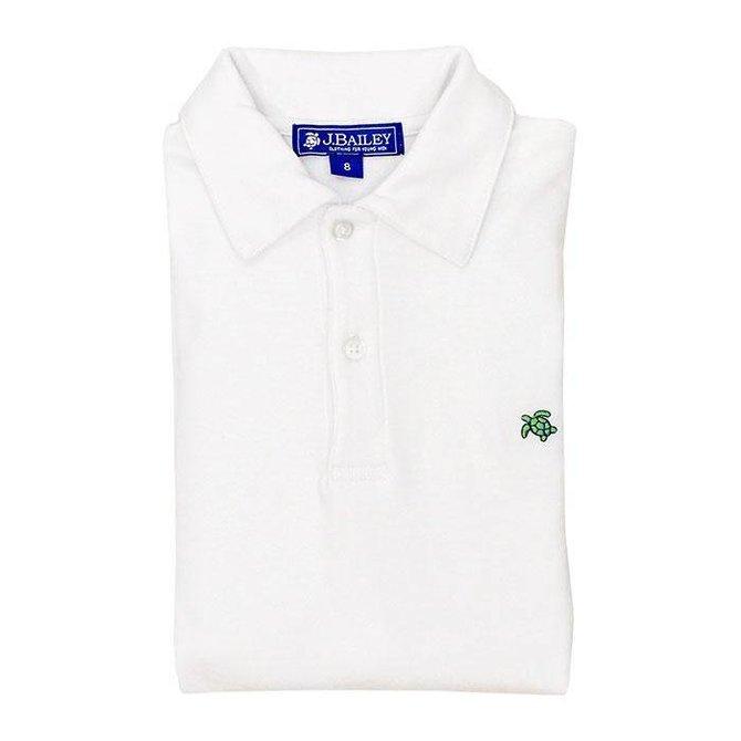 The Bailey Boys J Bailey Short Sleeve Polo White