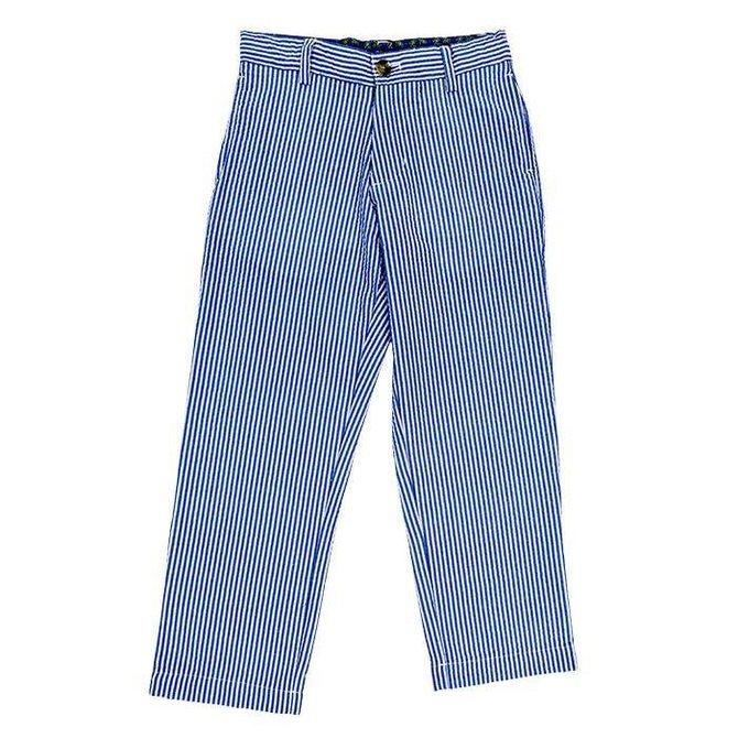 The Bailey Boys J Bailey Blue Stripe Seersucker Pant