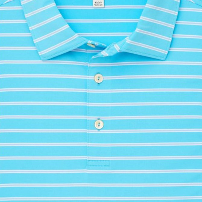 Youth Market Stripe Stretch Jersey Polo