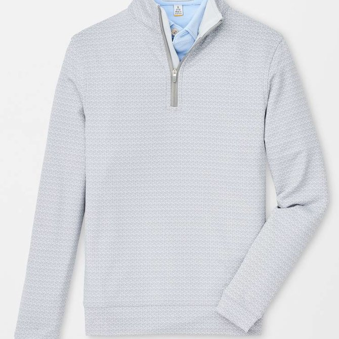 Peter Millar Youth Perth Stretch 1/4 Zip Tees British Gray