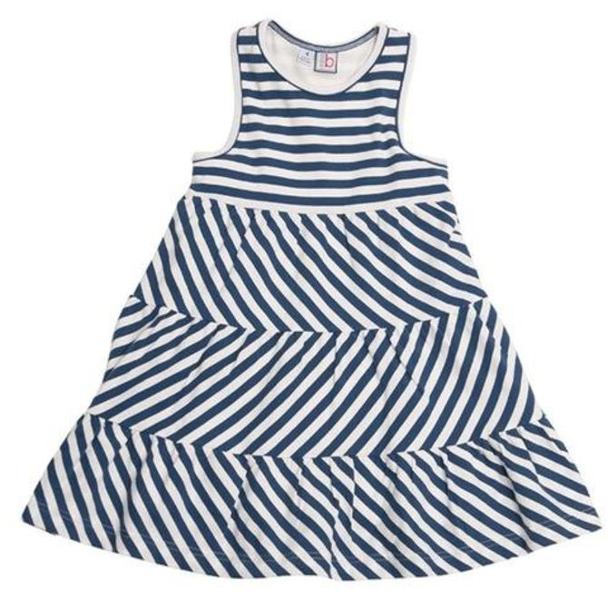 Busy Bees Parker Racerback Varsity Stripe Knit Dress