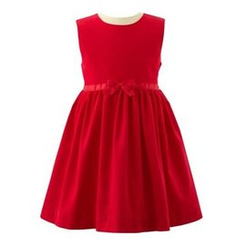 Rachel Riley Red Bow Pinafore with Cherry Top