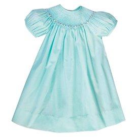 Rosalina Sadie Bullion Rose Smocked Dress Turquoise