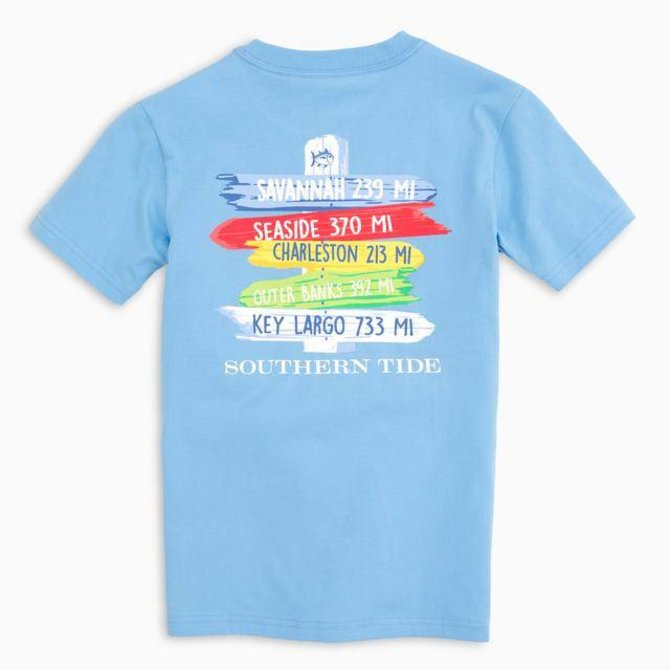 Southern Tide Youth SS Beach Signs Tee Ocean Channel