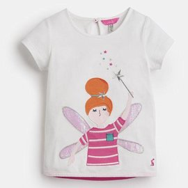 Joules Maggie Applique Shirt White Fairy