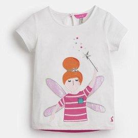 Joules Maggie Applique Shirt White Fairy