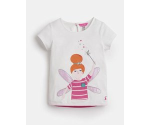 Joules maggie applique shirt white fairy covey house