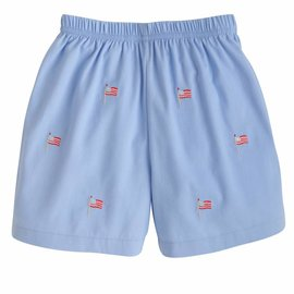 Little English Boys Embroidered Short Flag