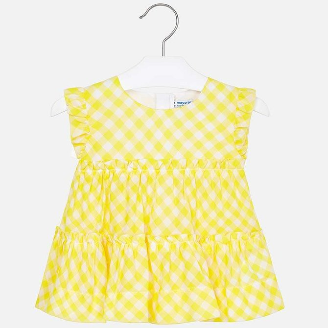 Mayoral Yellow Gingham Blouse