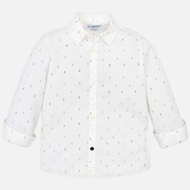 Mayoral Boys Long Sleeve Button Down Shirt- Anchors