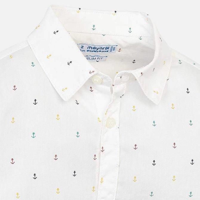 Mayoral Boys Long Sleeve Button Down Shirt- Anchors