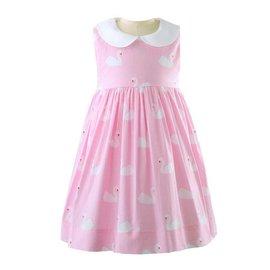 Rachel Riley Swan Peter Pan Collar Dress