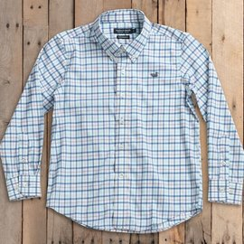 Southern Marsh Chambers Performance Shirt- Slate & Mint