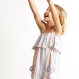 Bella Dahl Ruffle Sundress Ibiza Stripe