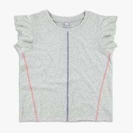 Splendid Ruffle Top Ice Gray
