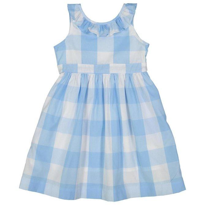 CPC Childrenswear Avery Dress- Bluebell Check