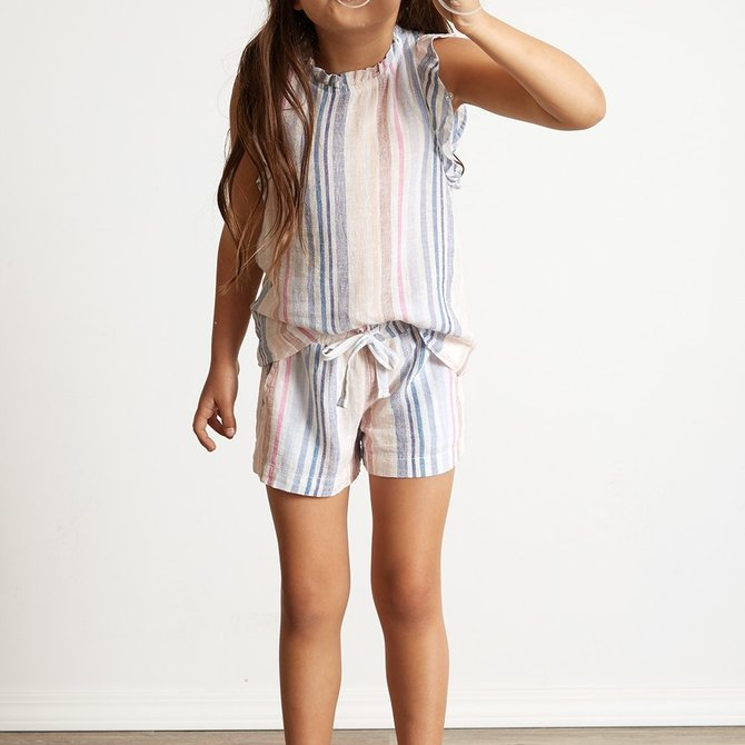Bella Dahl Easy Short- Ibiza Stripe