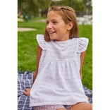 Bella Bliss Tatum Blouse White Eyelet