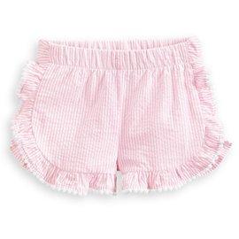 Bella Bliss Dauphine Short- Pink Seersucker Stripe