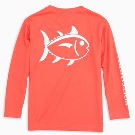 Southern Tide Youth LS Outline Skipjack Performance Tee
