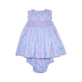 Question Everything Shirley Dress Flamingo