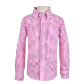 Eland Kids Longsleeve Button Down Shirt Pink Mini Gingham