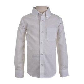 Eland Kids Longsleeve White Linen Shirt
