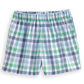 Bella Bliss Boy's Play Short Seafarer Check