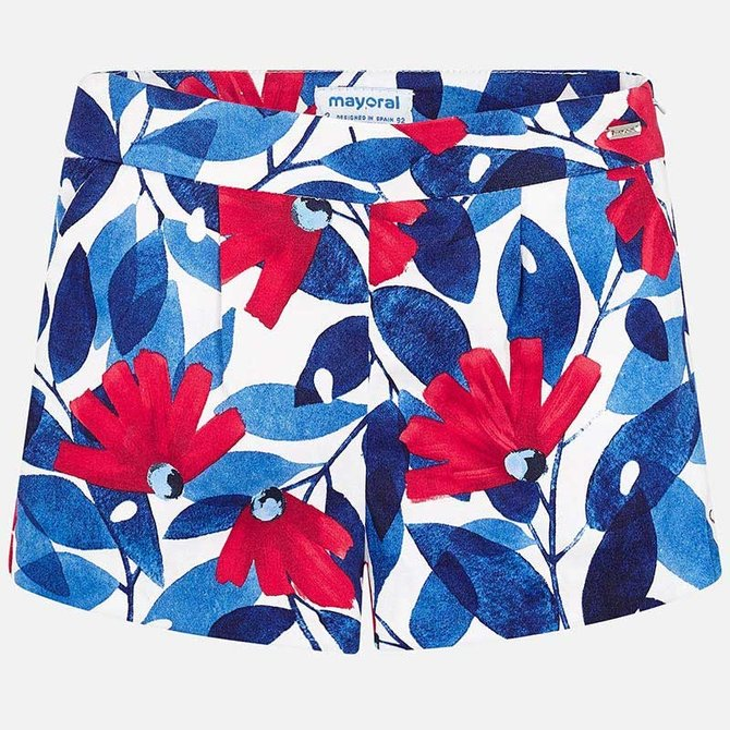 Mayoral Flower Shorts Red/White/Blue