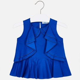 Mayoral Blue Ruffle Top