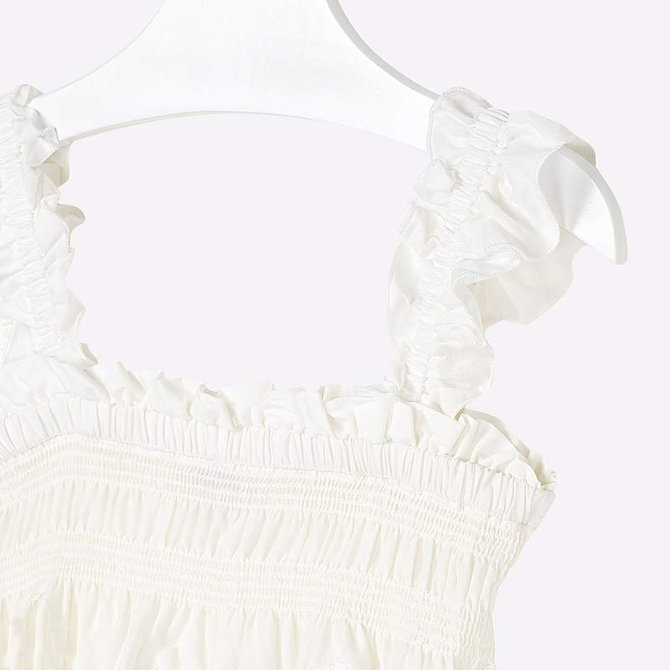 Mayoral White Eyelet Embriodered Top