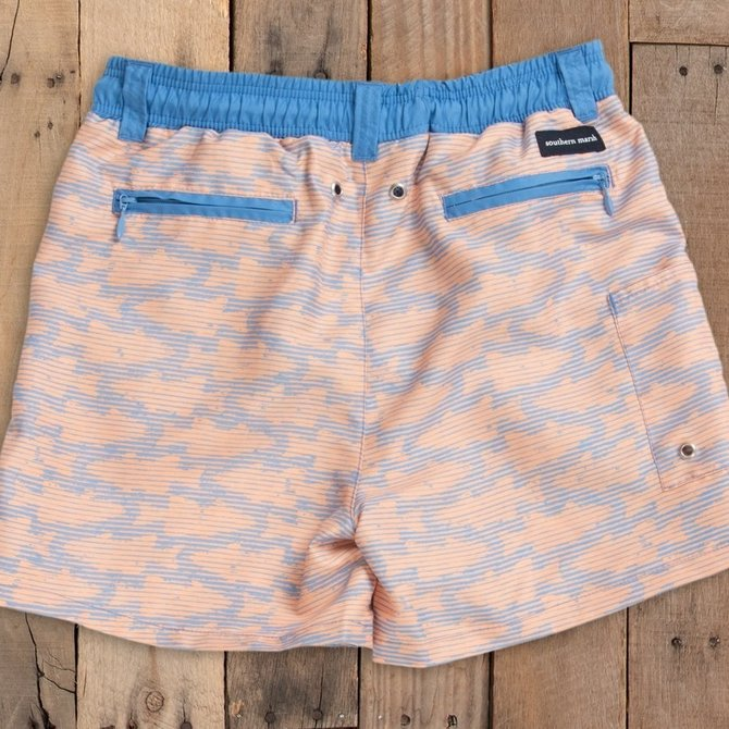 Southern Marsh Youth Dockside Swim Trunk Schools Lilac/Peach