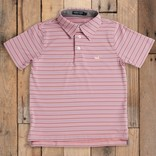 Southern Marsh Youth Oakwood Performance Polo Peach/Purple