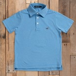 Southern Marsh Youth Baldwin Performance Polo Breaker Blue