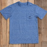 Southern Marsh Youth FIELDTEC Heathered Performance Tee Oxford Blue