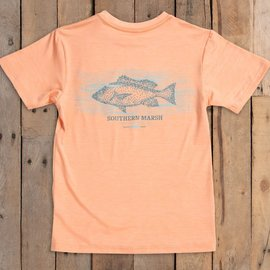 Southern Marsh Youth FieldTec™ Performance Tee - Peach Snapper