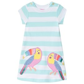 Joules Aqua Stripe Toucan Dress
