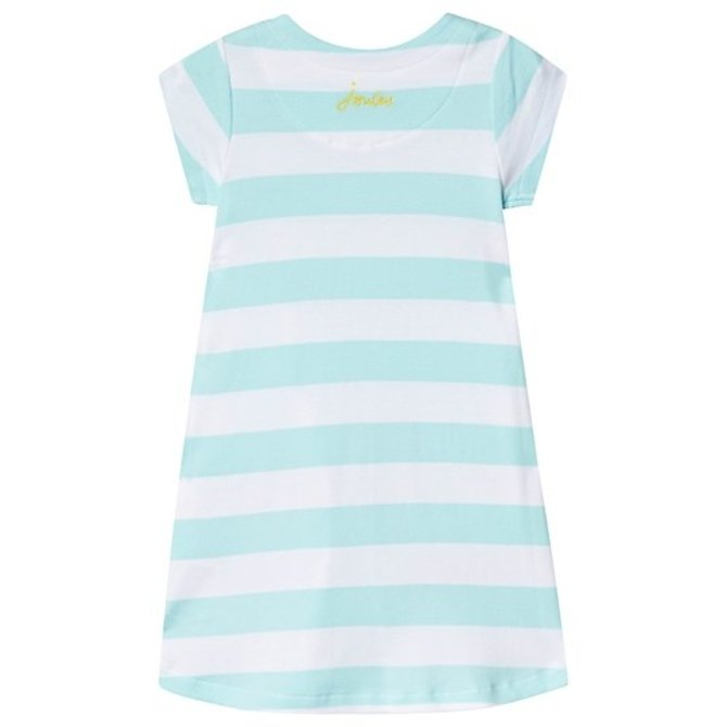 Joules Aqua Stripe Toucan Dress